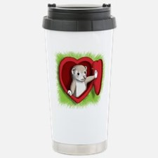 Valentine Ferret Heart Travel Mug