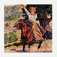 Lady Rider Tile Coaster