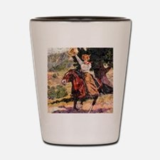 Lady Rider Shot Glass