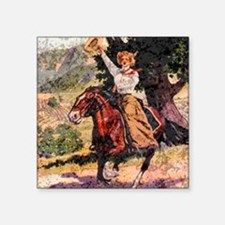 "Lady Rider Square Sticker 3"" x 3"""