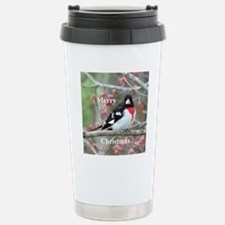 Rose Breasted Grosbeak Stainless Steel Travel Mug