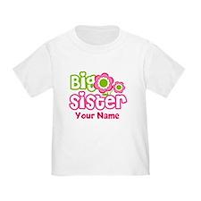 Custom Big Sister Pink Green T