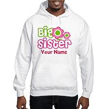 Custom Big Sister Pink Green Hoodie
