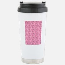 Daisies on Pink Stainless Steel Travel Mug
