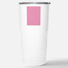 Daisies on Pink Travel Mug