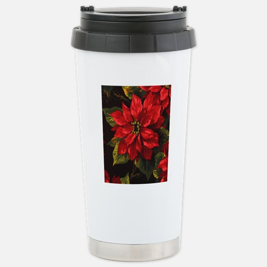 Scarlet Poinsettia Stainless Steel Travel Mug