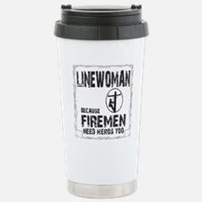 lineman because 3 Stainless Steel Travel Mug