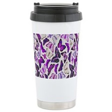 golden green butterflie Travel Coffee Mug