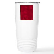 Red Patchwork Graphic Travel Mug