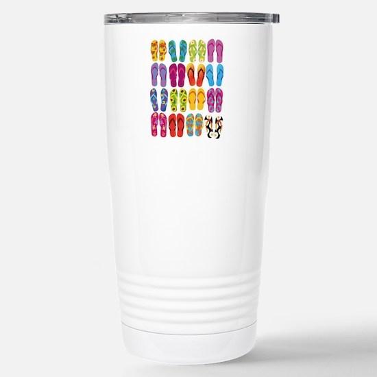 Colorful-Flip-Flops-Vec Stainless Steel Travel Mug