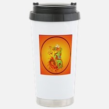 Circle ornament Flaming Stainless Steel Travel Mug