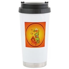 Circle ornament Flaming Travel Mug