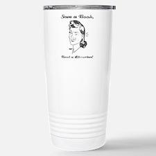 Save a Book, Read a Lib Travel Mug