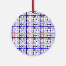 Bingo Game Patterns Ornament (Round)