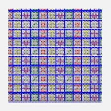 Bingo Game Patterns Tile Coaster