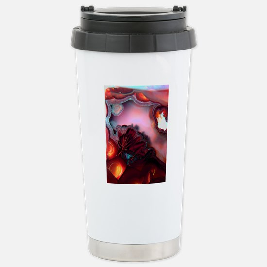 Fire-Agate-Quartz-iPad  Stainless Steel Travel Mug