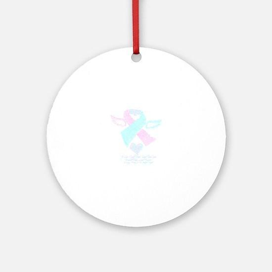 Baby Loss Awareness ribbon Round Ornament