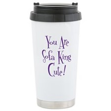 purple, Sofa King Cute Travel Mug