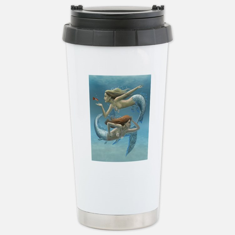 siren sisters covered v Travel Mug