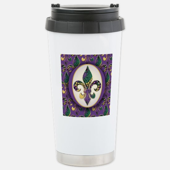 FleurMGbeads2JpPSq Stainless Steel Travel Mug