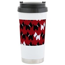 Scottie Dogs Red Travel Mug