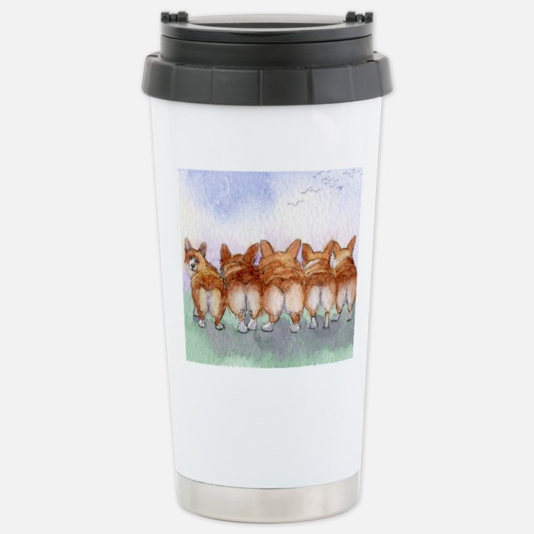 Five walk away together Stainless Steel Travel Mug