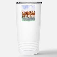 Five walk away together Travel Mug