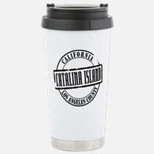 Catalina Island Title W Stainless Steel Travel Mug