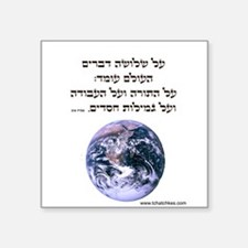 "Cute Torah Square Sticker 3"" x 3"""
