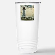 lighthouse_close_clock Stainless Steel Travel Mug