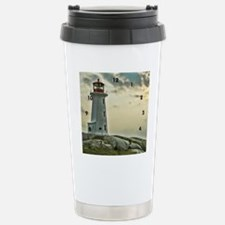 lighthouse_close_clock Travel Mug