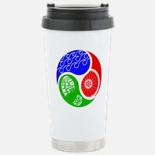 Triathlon TRI Swim Bike Run Yin Yang Travel Mug