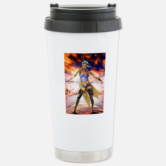 post_apocholiptic_weste Stainless Steel Travel Mug