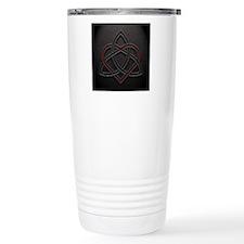 Celtic Knotwork Leather Travel Mug