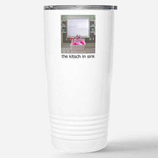 sink flamingos 1 for bl Stainless Steel Travel Mug