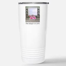 sink flamingos 1 for bl Travel Mug