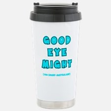 blue2, Good Eye Might,  Stainless Steel Travel Mug
