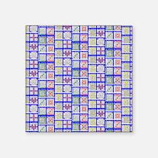 "Bingo Game Patterns Offset Square Sticker 3"" x 3"""