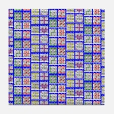 Bingo Game Patterns Offset Tile Coaster