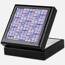 Bingo Game Patterns Offset Keepsake Box