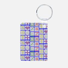 Bingo Game Patterns Offset Aluminum Photo Keychain