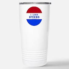 I Like Dykes Button Travel Mug