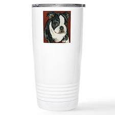 boston pup squared Travel Mug
