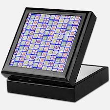 Bingo Game Patterns Offset 2 Keepsake Box