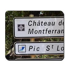 Chateau Ste Agnes. Pic St Loup. Languedo Mousepad