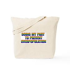 GLBT Rainbow Tote Bag