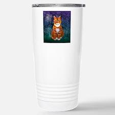 Orange Tabby Cat Stainless Steel Travel Mug