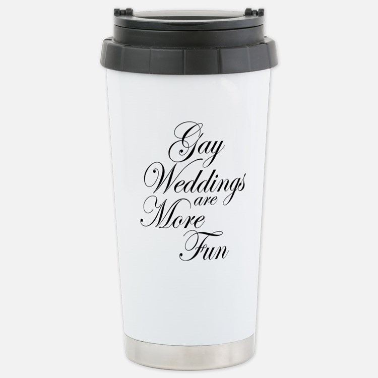 Gay Wedding Travel Mug