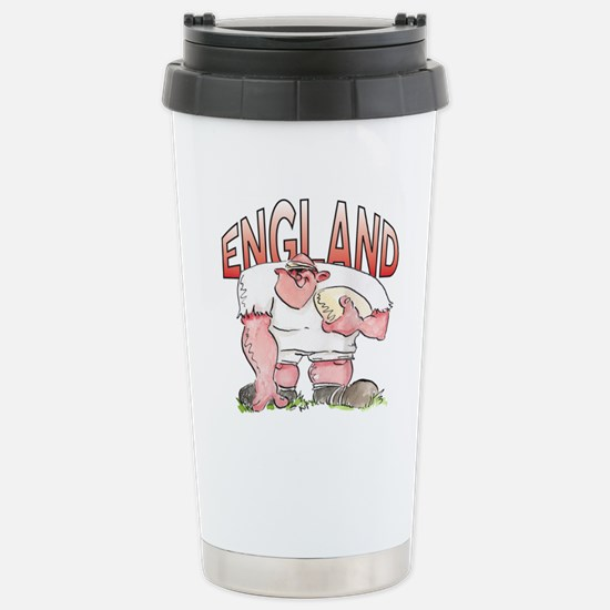 English Rugby - Forward Stainless Steel Travel Mug