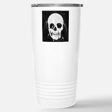 skull illusion square Stainless Steel Travel Mug